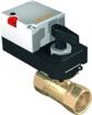2cestné regulační kulové ventily s pohonem pro řízení průtoku vody