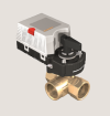 3cestné regulační kulové ventily s pohonem pro řízení průtoku vody
