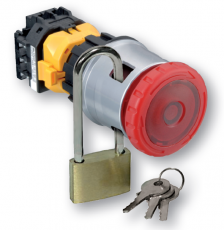 Nouzové tlačítko řady XN od IDEC