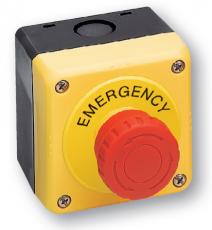 Nouzová tlačítka v krabičce od IDEC