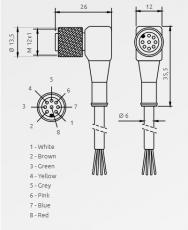 Kabely C8D 9x