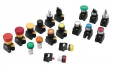 Tlačítka, kontrolky a bezpečnostní spínače řady YW od IDEC