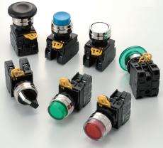 Tlačítka a kontrolky řady YW s kovovým kroužkem od IDEC