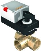 3cestné regulační kulové ventily pro řízení průtoku vody